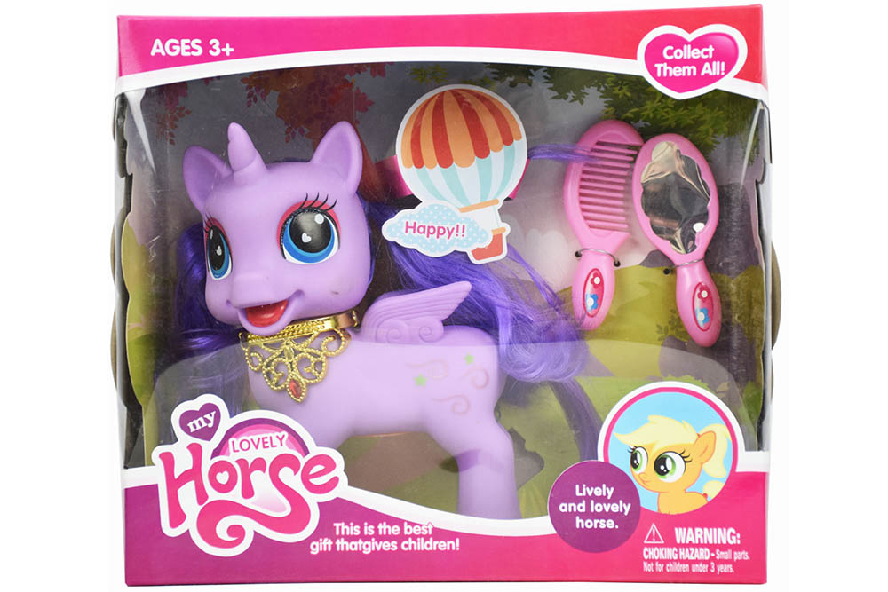 Vinyl toys Big Pegasus with comb mirror with light music No.TA261154