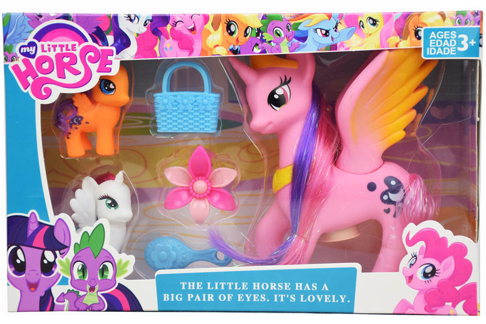 Vinyl toys little Pony with music and lights No.TA261162