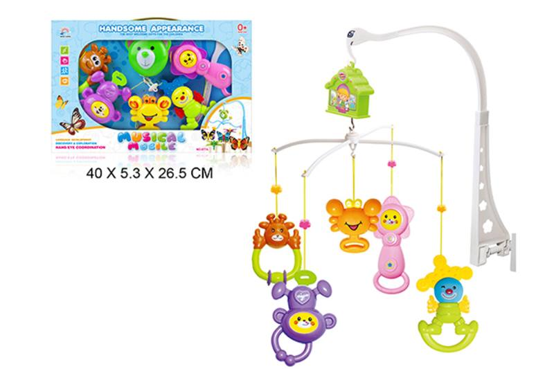 Wind up baby musical hanging bell baby mobile plastic No.TA255287
