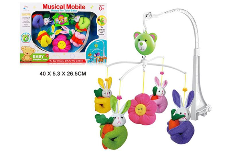 Wind up baby musical hanging bell baby mobile plastic cloth doll No.TA255289