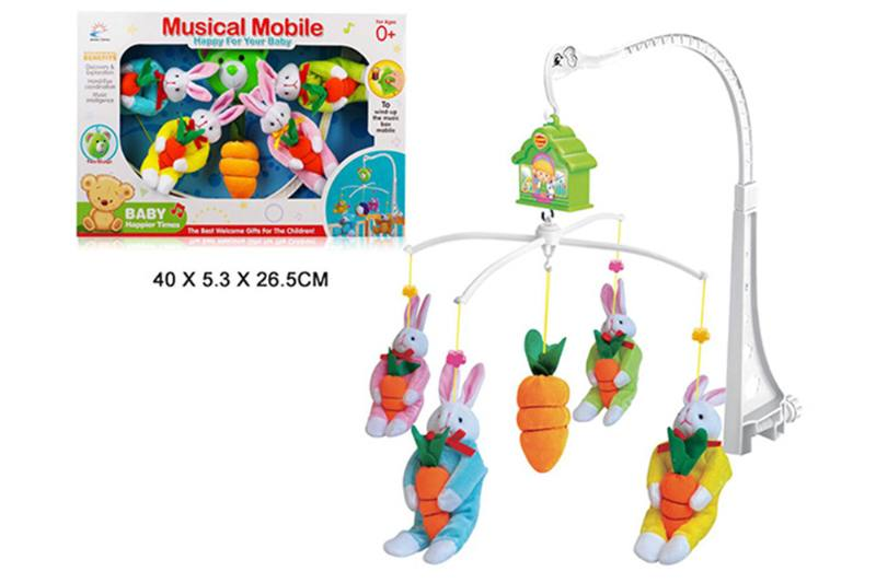 Wind up baby musical hanging bell baby mobile plastic cloth doll No.TA255291