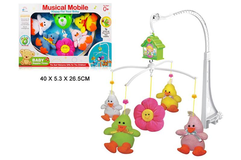 Wind up baby musical hanging bell baby mobile plastic cloth doll No.TA255292