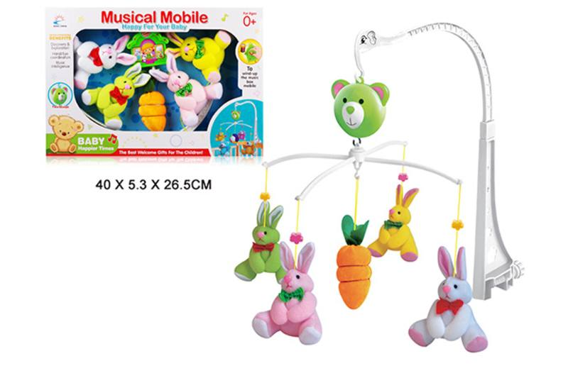 Wind up baby musical hanging bell baby mobile plastic cloth doll No.TA255293