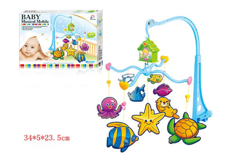 Wind up baby musical hanging bell baby mobile plastic cloth doll No.TA255294