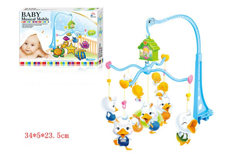 Wind up baby musical hanging bell baby mobile plastic cloth doll No.TA255296