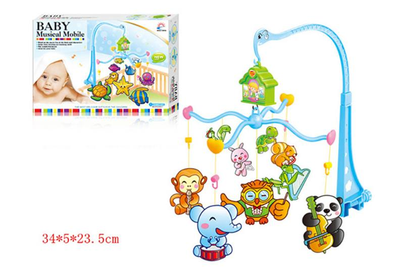 Wind up baby musical hanging bell baby mobile plastic cloth doll No.TA255297