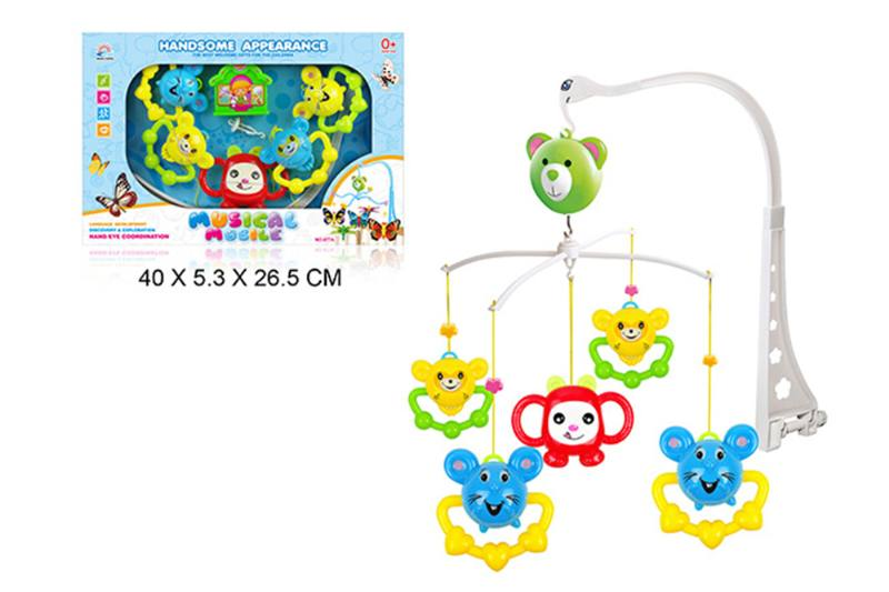 Wind up baby musical hanging bell baby mobile plastic No.TA255300