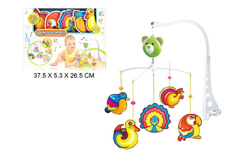 Wind up baby musical hanging bell baby mobile plastic cloth doll No.TA255302