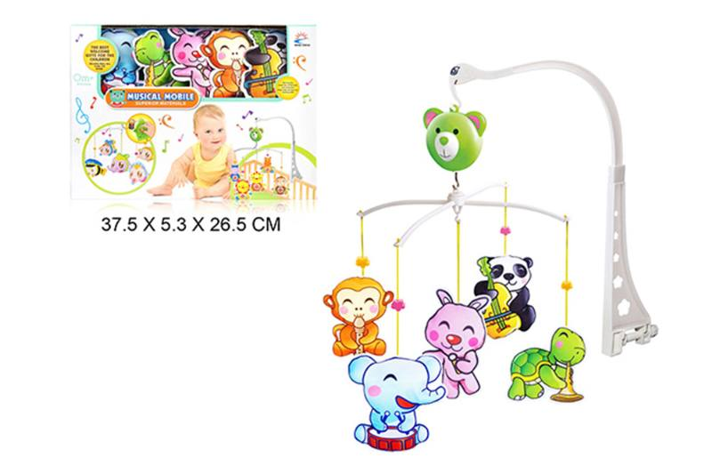 Wind up baby musical hanging bell baby mobile plastic cloth doll No.TA255303