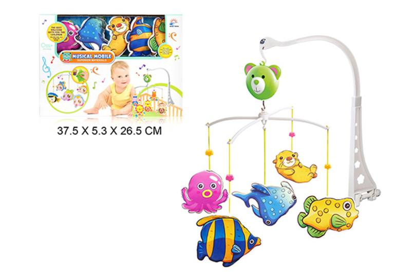 Wind up baby musical hanging bell baby mobile plastic cloth doll No.TA255304