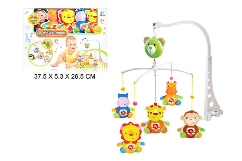 Wind up baby musical hanging bell baby mobile plastic cloth doll No.TA255305