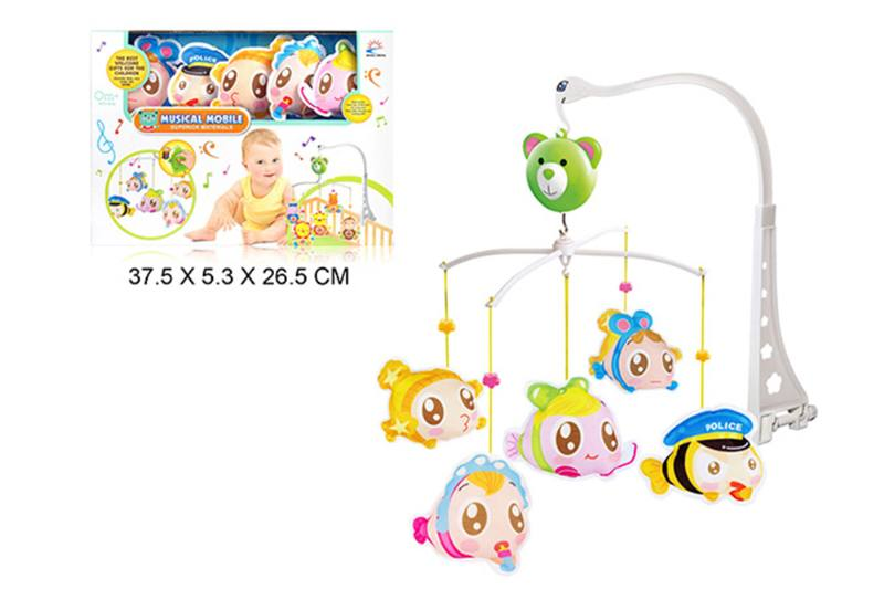 Wind up baby musical hanging bell baby mobile plastic cloth doll No.TA255306