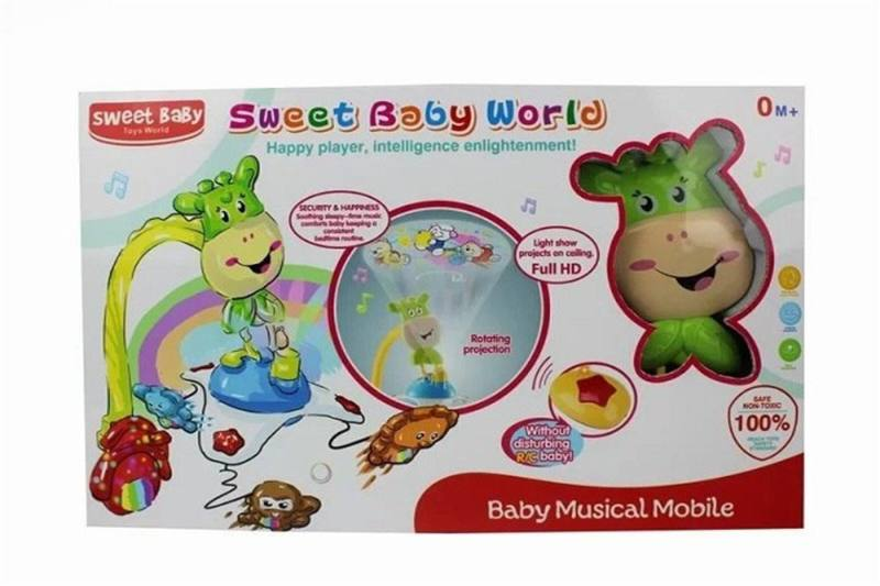 Baby toy music, projection, remote control bedside bell No.TA259118