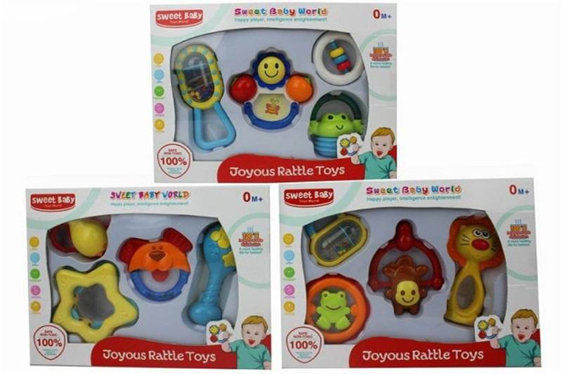 New baby puzzle rattle 4 baby rattles (3 mixed) No.TA259115