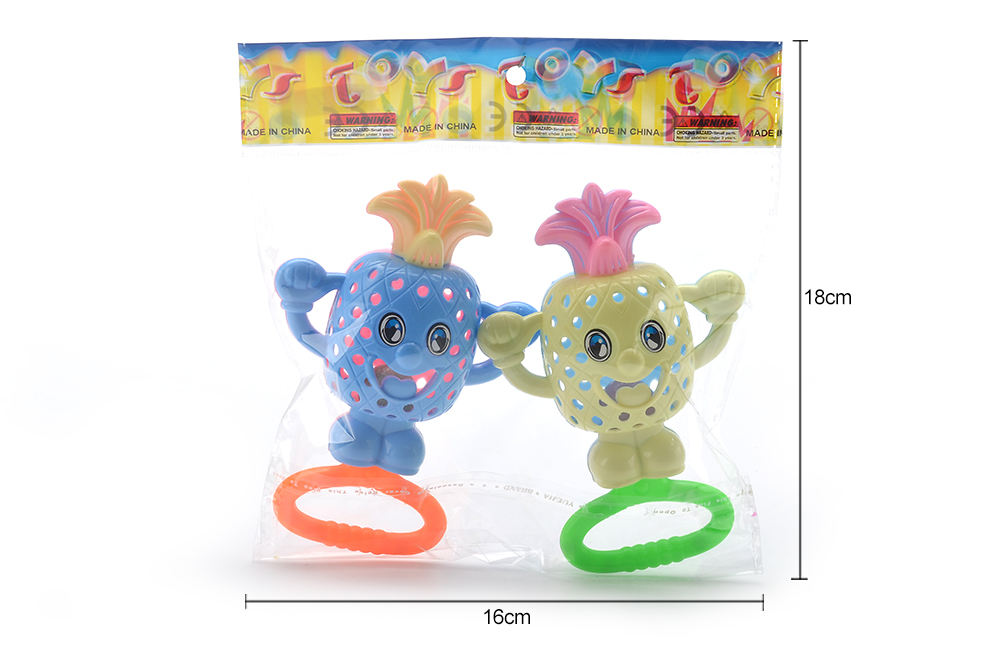 Baby early education puzzle rattle toy cartoon pineapple bell No.TA261583