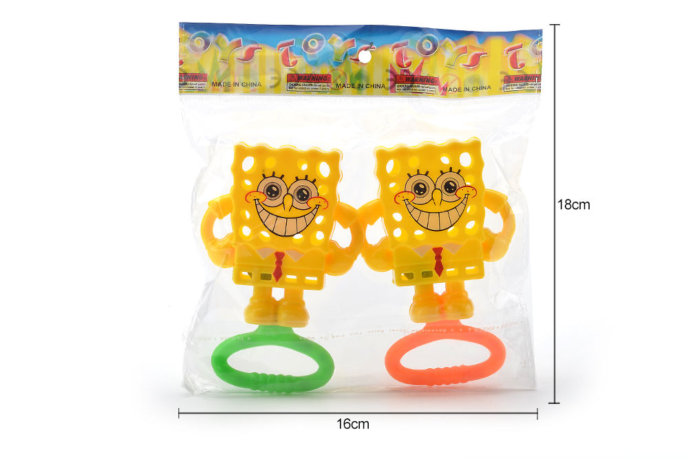 Baby Early Learning Puzzle Rattle Toy SpongeBob Bell No.TA261584