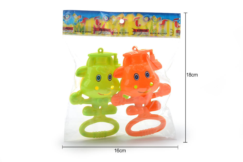 Baby early education puzzle rattle toy cartoon cow bell No.TA261588