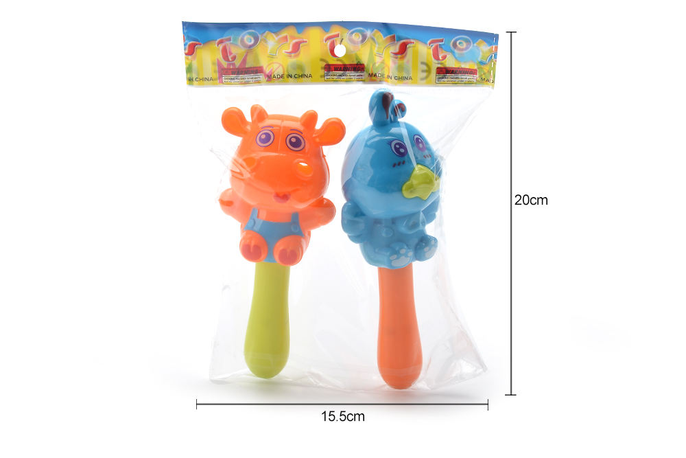 Baby early education puzzle rattle toy cartoon cow chicken bell No.TA261596