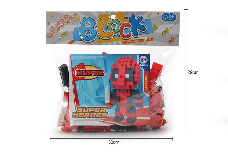 Educational Toys Superheroes - Death Special Large Particle Building Blocks (118 No.TA259986
