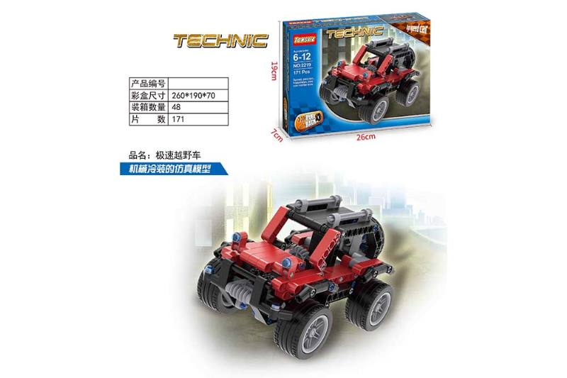 Off-road vehicle puzzle self-assembled building blocks toy No.TA260649
