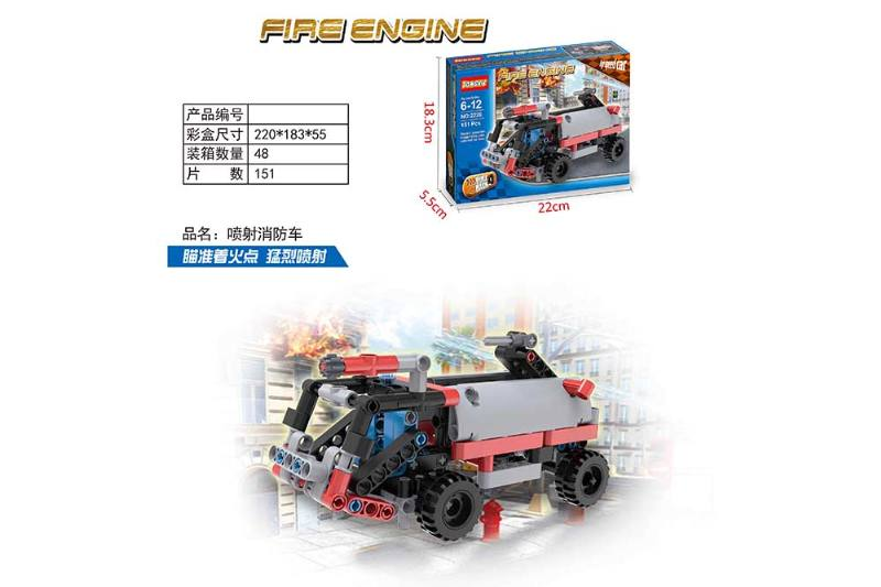 Fire truck puzzle self-assembled building blocks toy No.TA260656