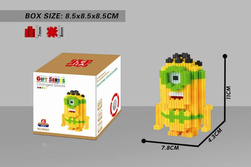 Educational Toys Microparticle Building Blocks - Prehistoric Little Yellow Man NO.TA262637