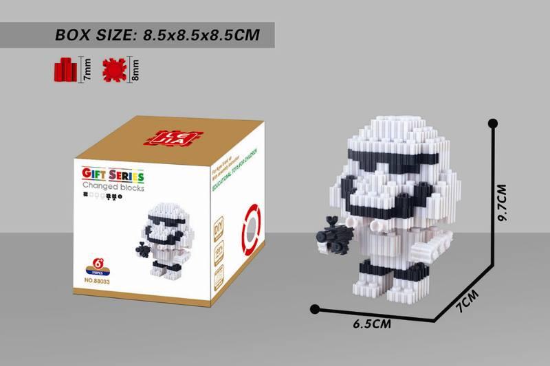 Puzzle Building Blocks Microparticle Building Blocks - Planet White Warrior NO.TA262676