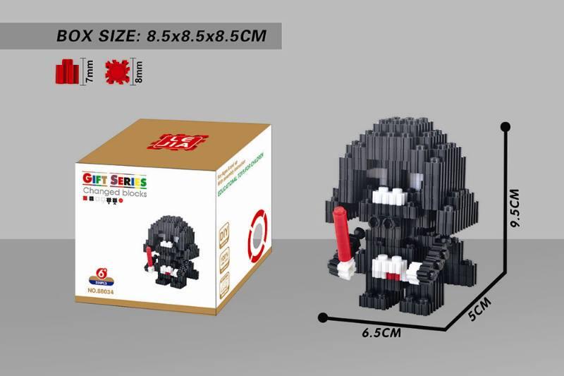 Puzzle Building Blocks Microparticle Building Blocks - Planet Black Warrior NO.TA262677
