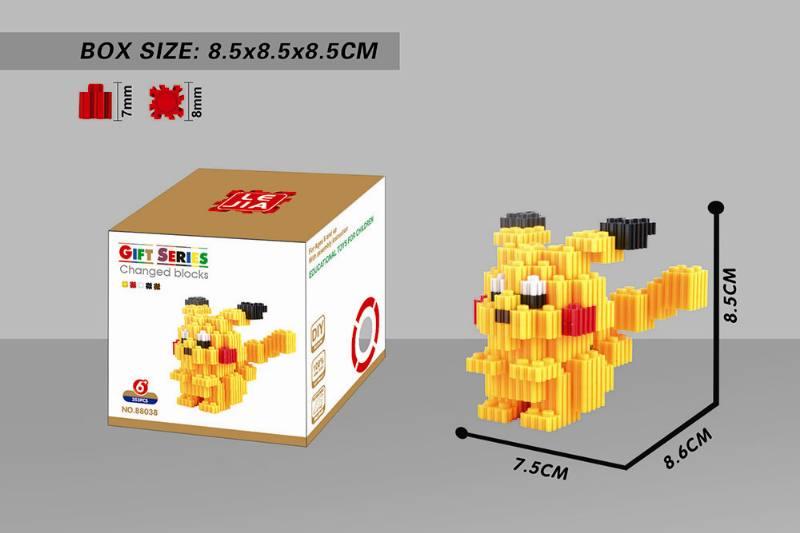 Puzzle blocks micro-particle blocks - Pikachu NO.TA262681