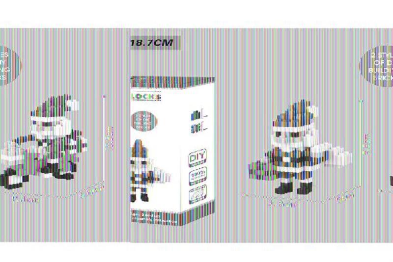 Puzzle blocks, micro-particle blocks - Santa Claus NO.TA262682