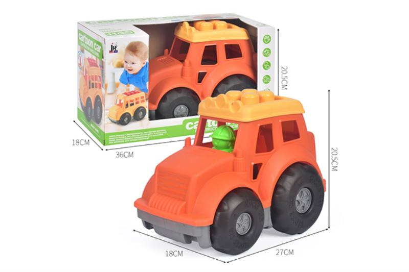 11PCS puzzle building block car NO.TA263236