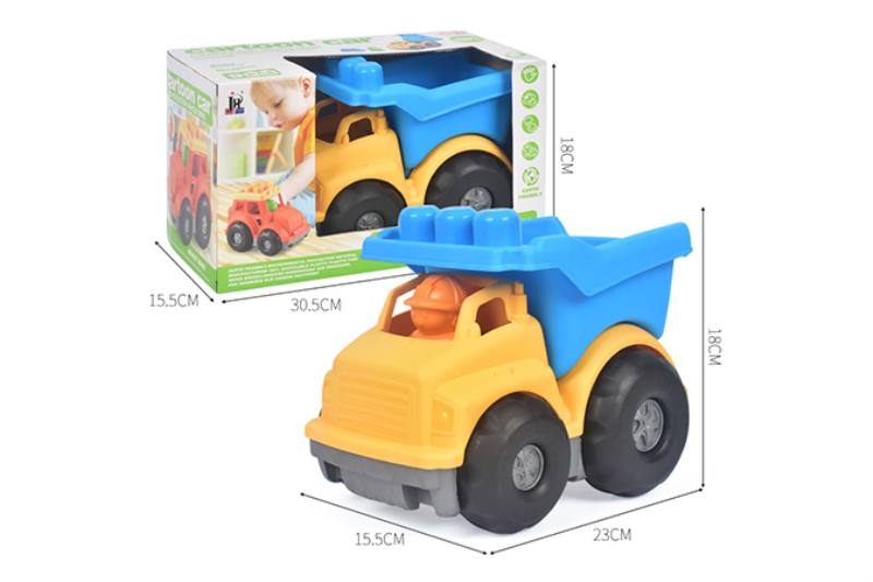 9PCS puzzle building block car small engineering car set NO.TA263247