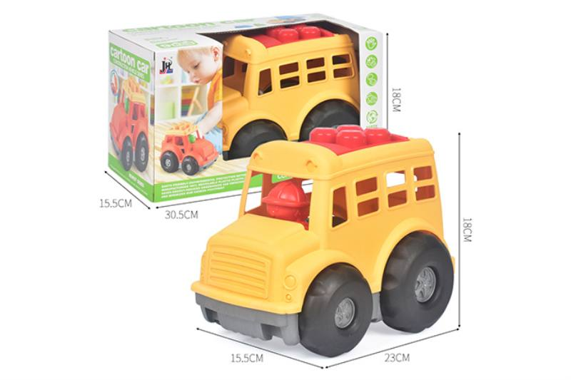9PCS puzzle building block car small engineering car set NO.TA263249