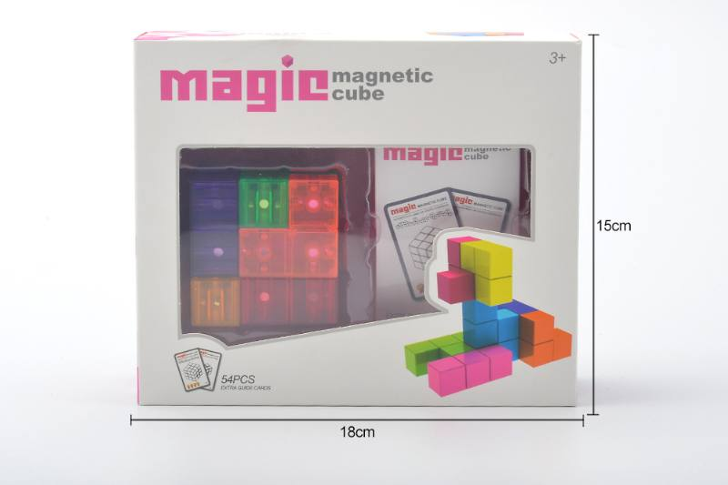 Puzzle magnetic cube assembling a variety of DIY stand volume wood NO.TA263147