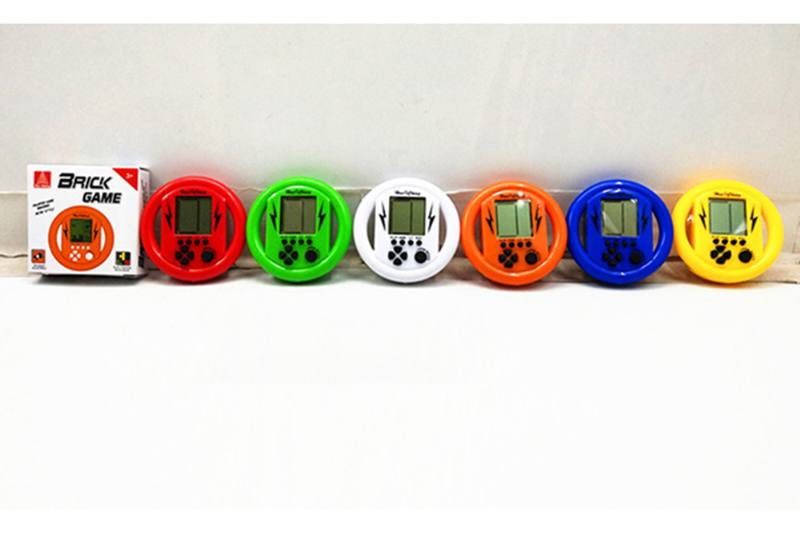 Educational game toy steering wheel game machine with 2*AG13 battery No.TA255722