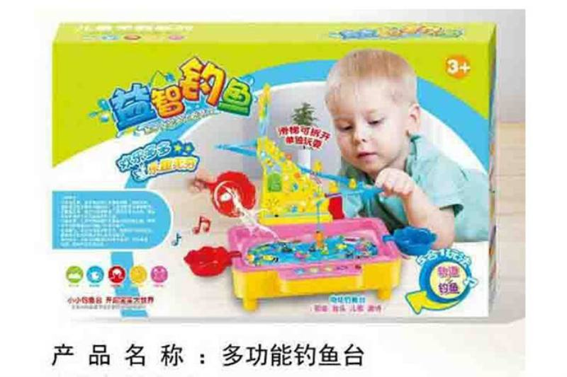 Multi-function fishing (light music songs Tang Shi) 5 in 1 play track + fishing No.TA254846