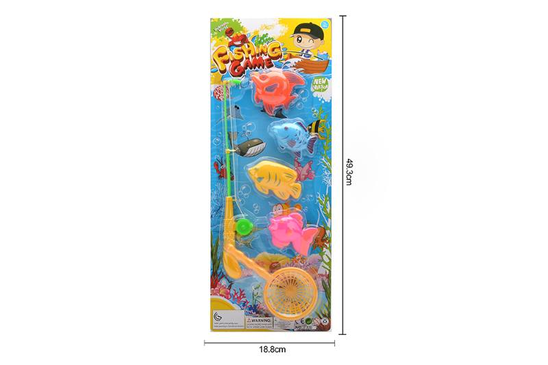 Educational toys, play beach toys, toy fishing, magnetic fishing toy set No.TA255761