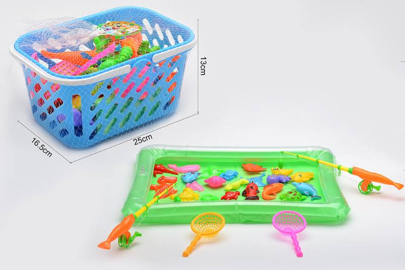 Educational toys, play beach toys, toy fishing, magnetic fishing toy set No.TA255762