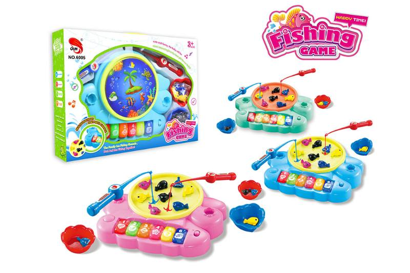 Electric toy parent-child fishing game (3 colors mixed) NO.TA262704