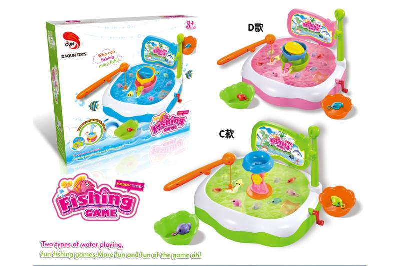 Electric toy parent-child fishing game (single box CD accessories with 3 colors