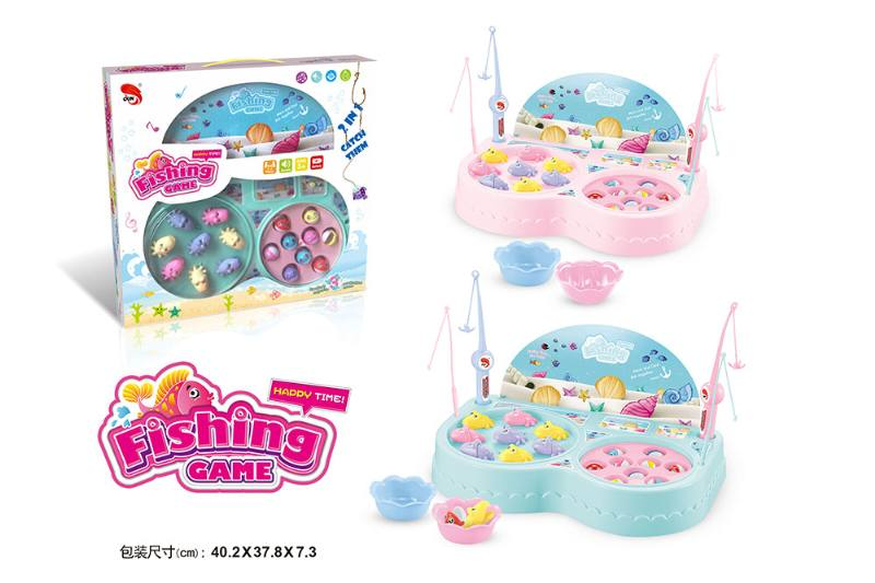 Electric toy parent-child fishing game Pisces dish (2 colors mixed) NO.TA262710