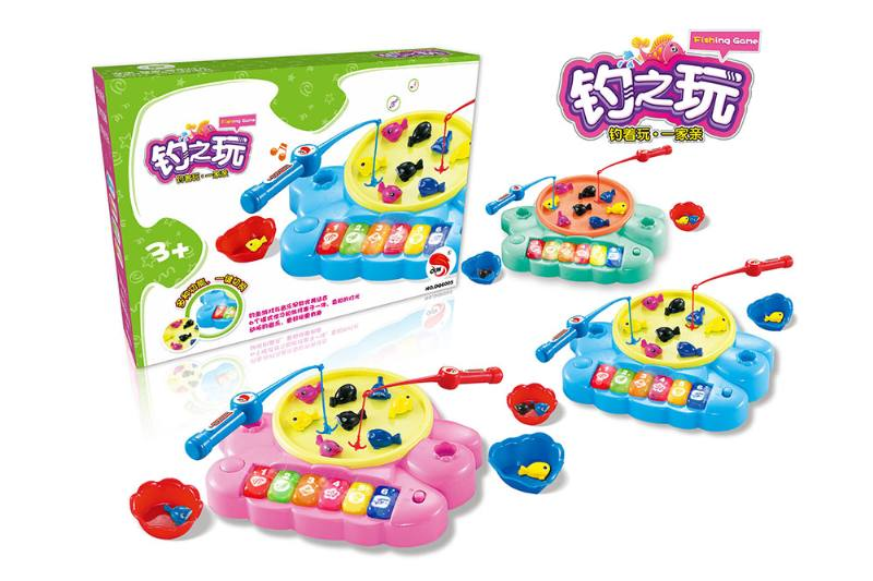 Electric toy parent-child fishing game (3 colors mixed) NO.TA262751