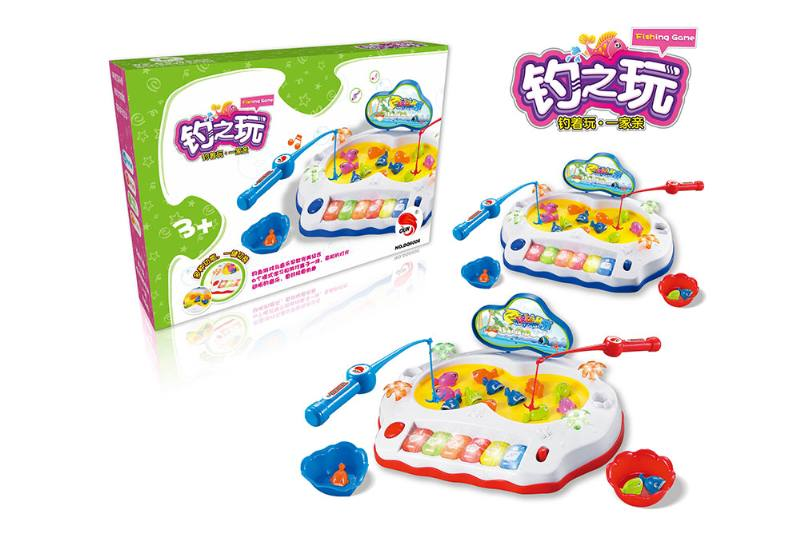 Electric toy parent-child fishing game (2 colors mixed) NO.TA262752