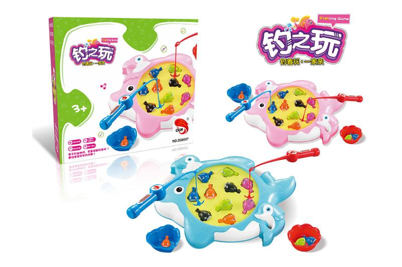 Electric toy parent-child fishing game (2 colors mixed) NO.TA262753