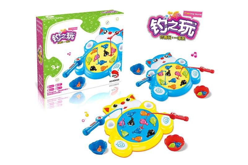 Electric toy parent-child fishing game (2 colors mixed) NO.TA262754