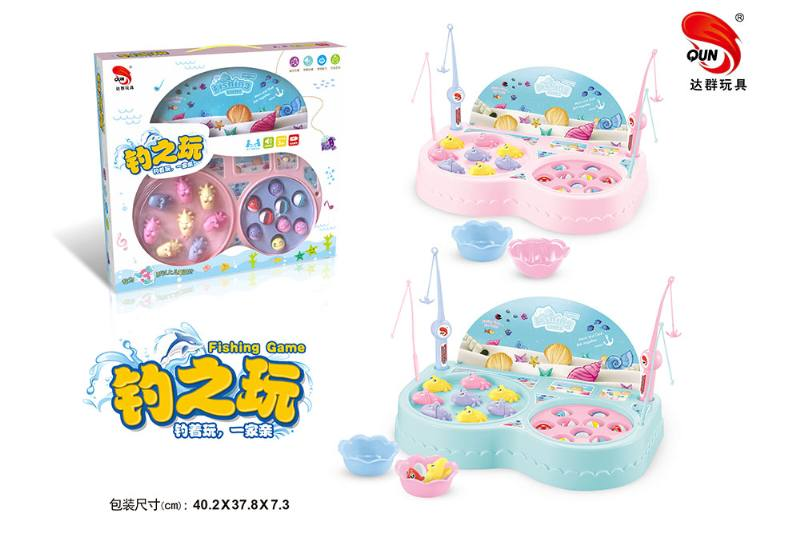 Electric toy parent-child fishing game Pisces dish (2 colors mixed) NO.TA262757