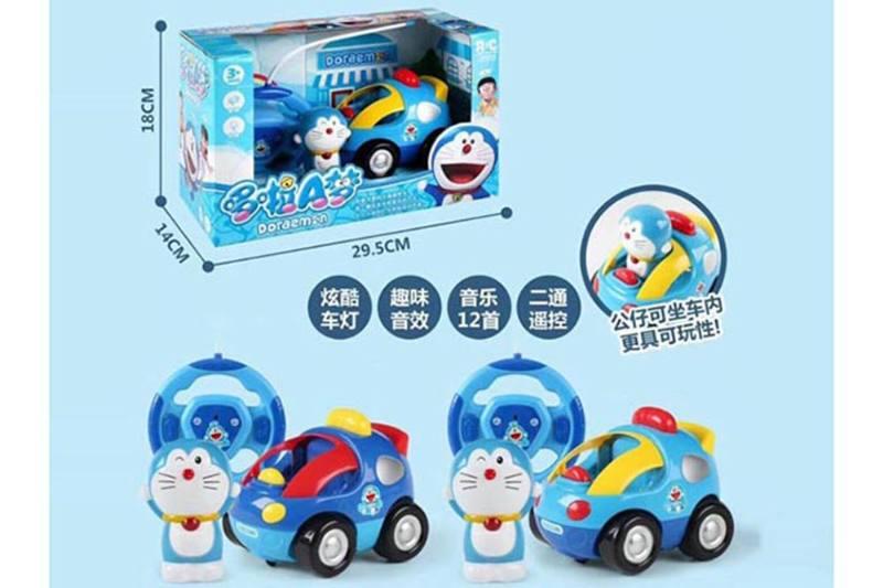 Cartoon remote control toy Doraemon 2 channel remote control car with light musi No.TA255108