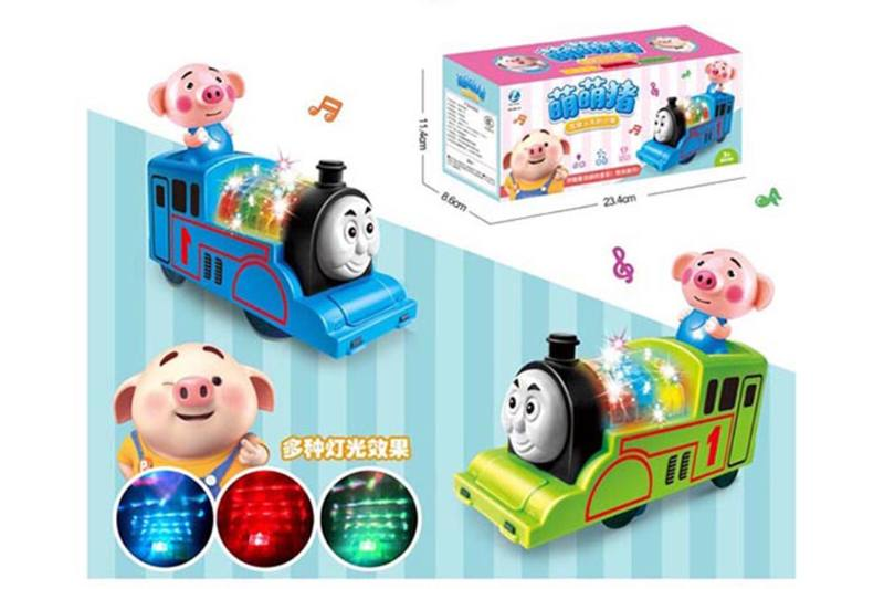 Cartoon electric toy electric universal sprouting pig Thomas No.TA255109