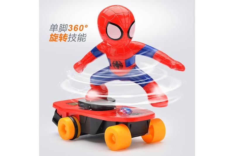 Cartoon electric toy strange skateboard superhero No.TA259396