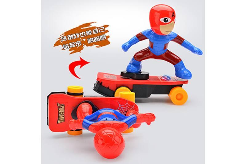 Cartoon electric toy strange skateboard superhero No.TA259397